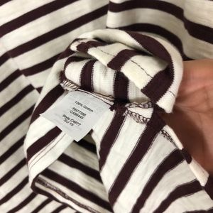 Madewell Tops - Madewell Setlist Striped Pullover Top Ivory Maroon